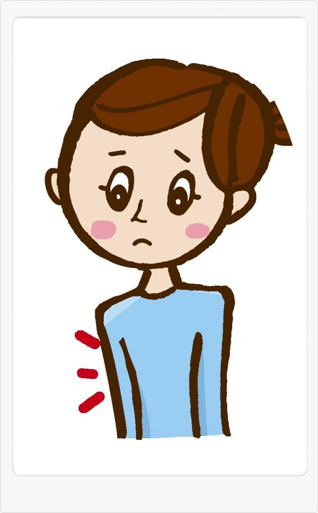 胸が小さい女性のイラスト