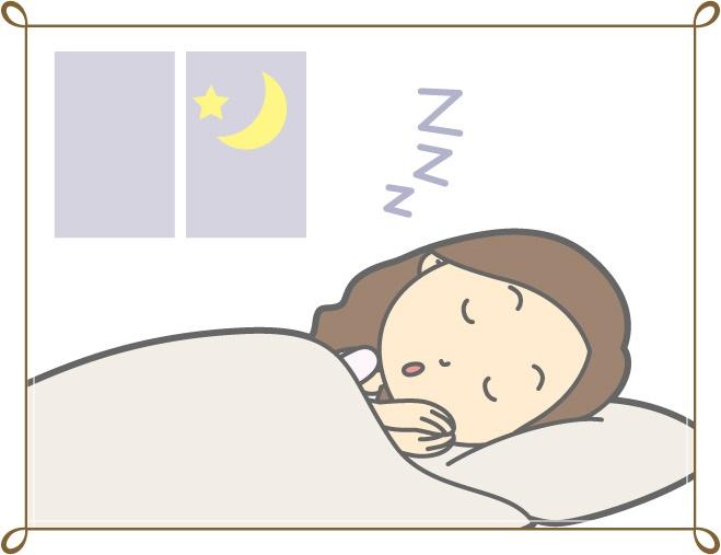 眠る女性のイラスト