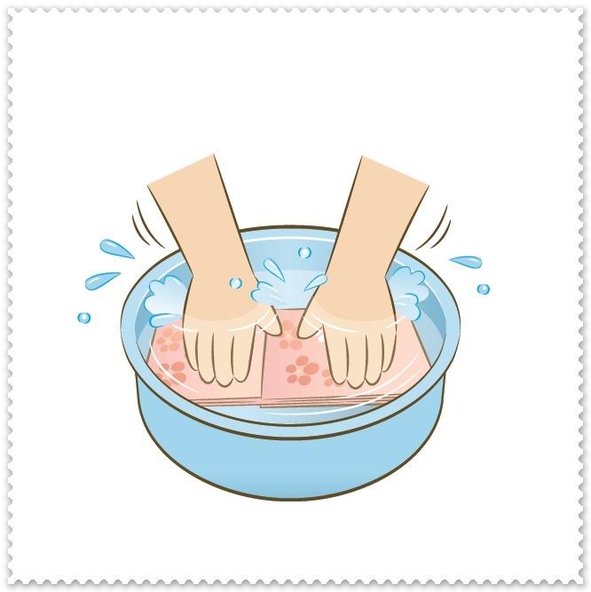 手洗い洗濯のイラスト