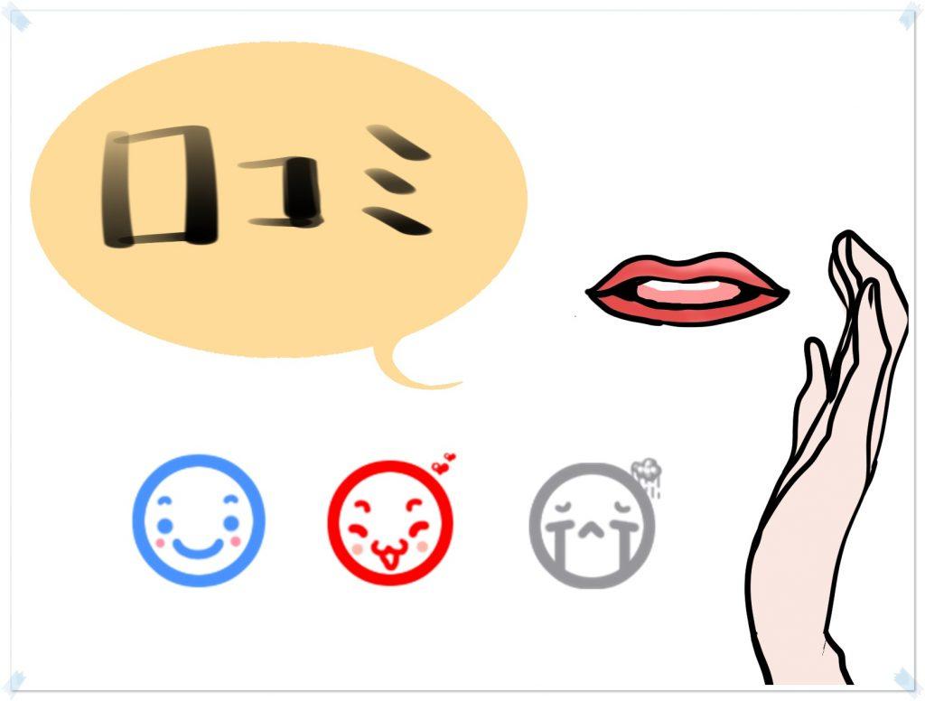良い口コミや悪い口コミのイメージ