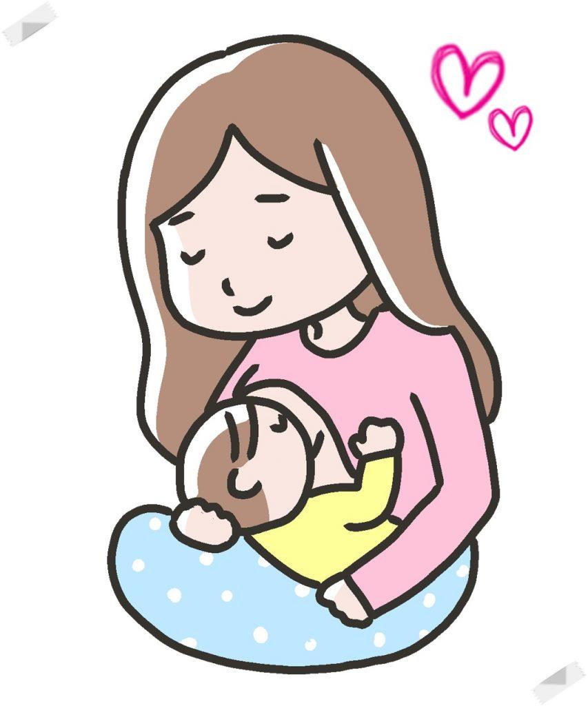授乳する女性のイラスト