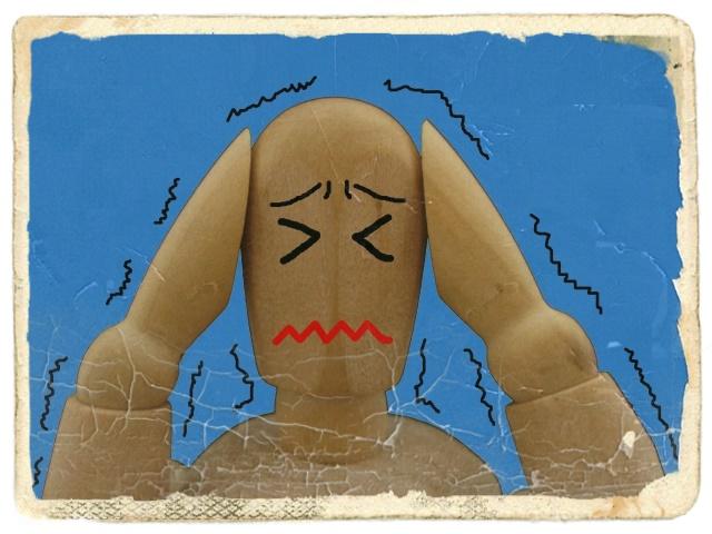 震える人のイラスト