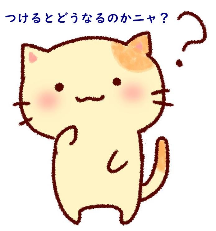 疑問に思う猫