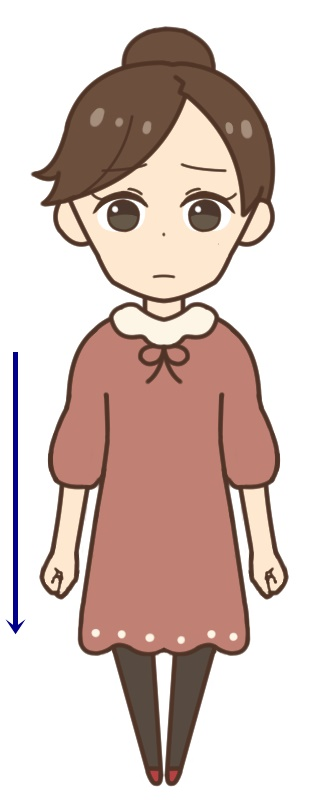 痩せ型の女性