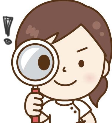 調査する女性