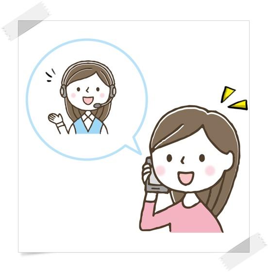 電話で連絡をする女性