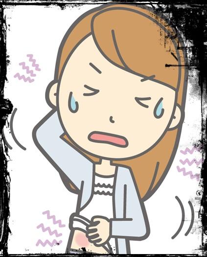 肌に炎症をおこした女性