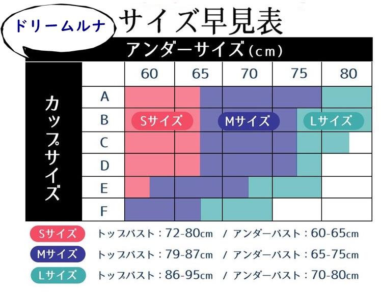 ドリームルナサイズ表