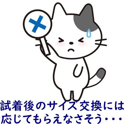 ×を示す猫