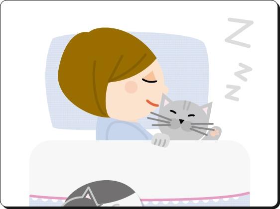 快適に眠る女性