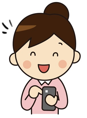 フリマアプリを見る女性